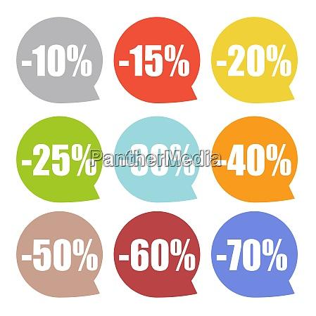 speech bubble sale label set vector