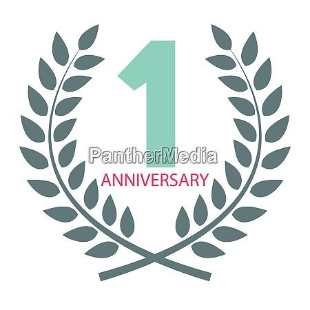 template logo 1 anniversary in laurel