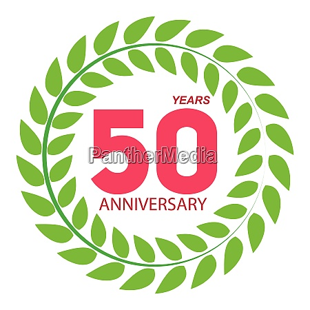 template logo 50 anniversary in laurel