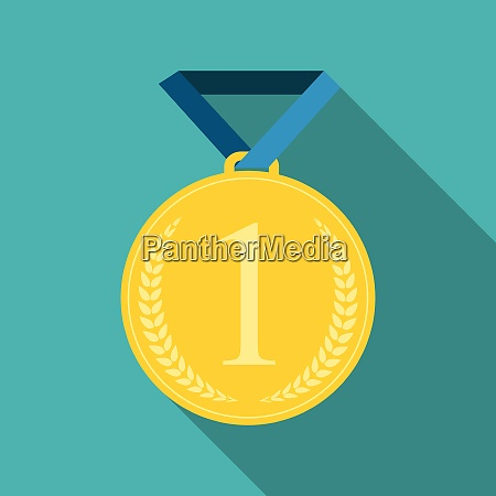 art flat medal icon template for