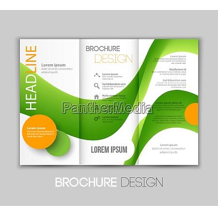 vector illustration template leaflet design with