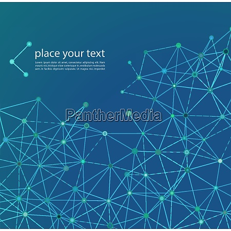 molecule and communication background vector illustration