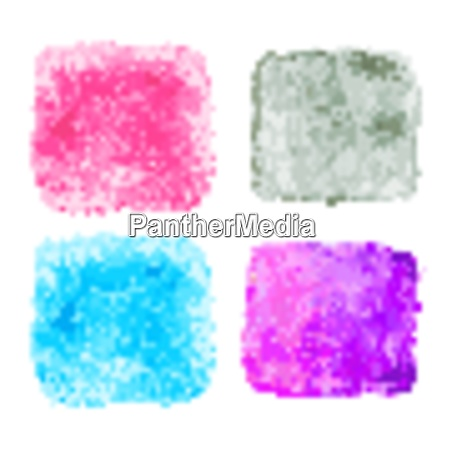 blue watercolor splatters vector illustration eps