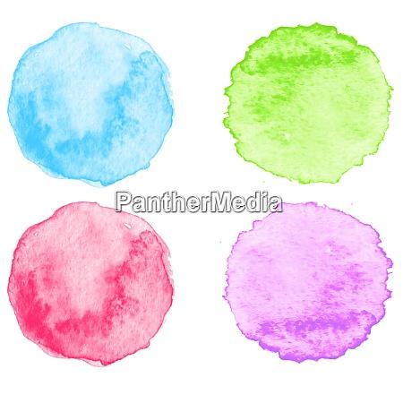 blue, watercolor, splatters., vector, illustration., eps - 26343368
