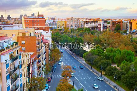skyline valencia road architecture spain