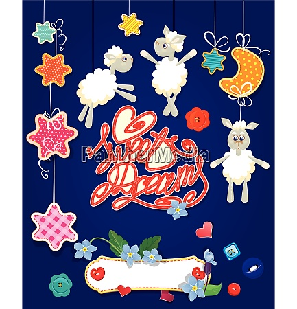 baby shower card with stars moon
