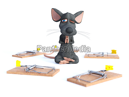 3d rendering of a cartoon mouse