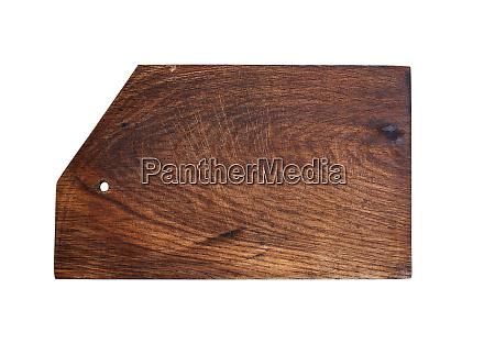 old brown rectangular wooden kitchen cutting