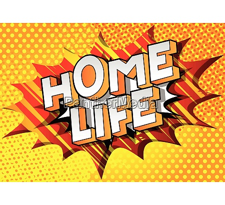 home life comic book style