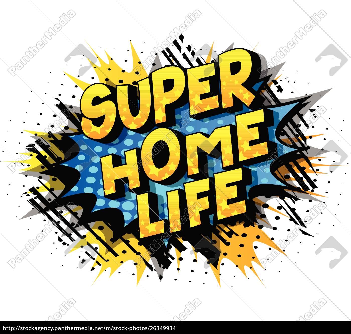 super, home, life, -, comic, book - 26349934