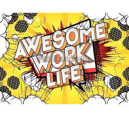 awesome work life comic book