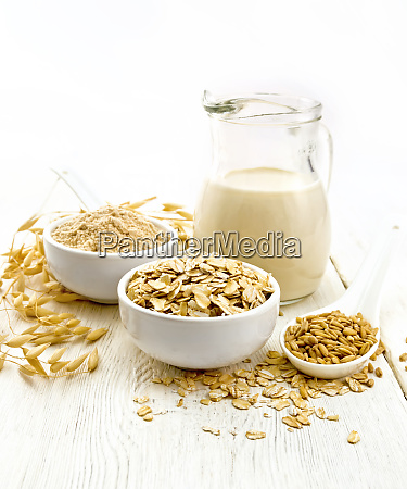 oat flakes with flour and milk
