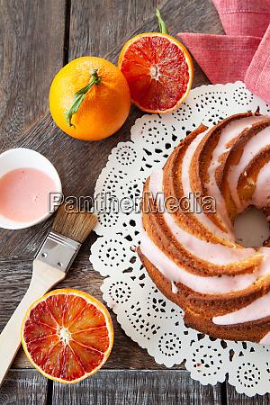 yummy bundt cake with frosting