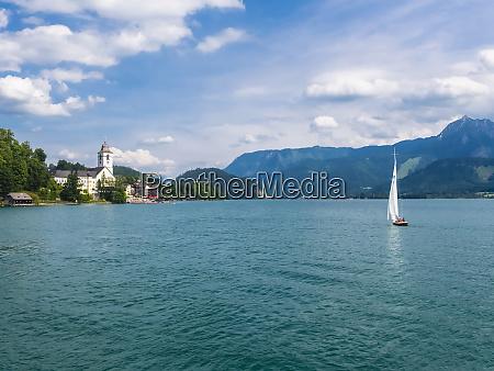 austria salzkammergut salzburg state lake wolfgangsee