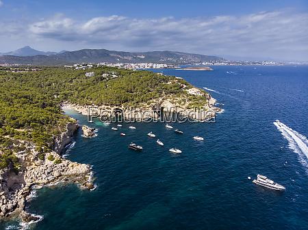 spain mallorca calvi aerial view of