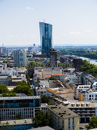 germany hesse frankfurt view to european