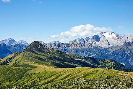 giau pass mountains at daylight