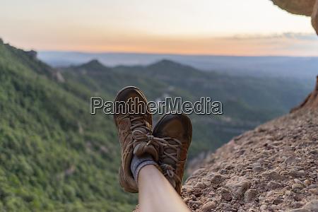 spain barcelona montserrat feet of resting
