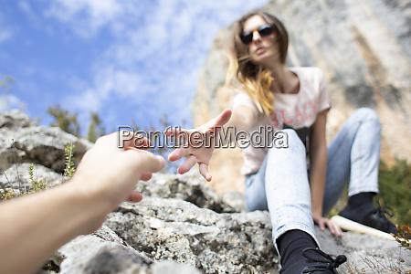 spain alquezar young woman on a