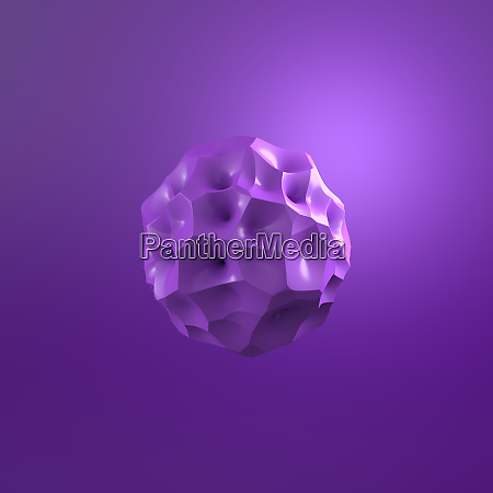 3d rendering purple molecule against purple