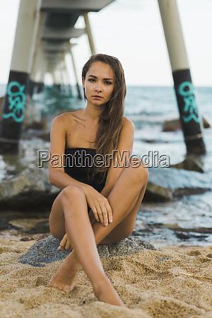 portrait, of, beautiful, young, woman, wearing - 26355196