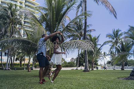 usa florida miami beach happy young