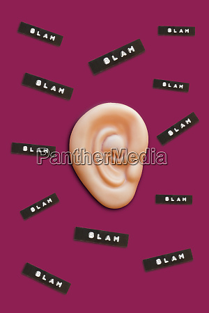 fake ear and blah comments 3d
