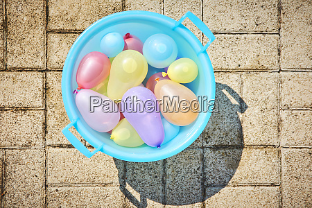 water bomb stock in a bucket