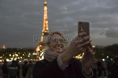 france paris portrait of happy woman