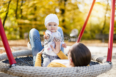 portrait of baby girl relaxing with