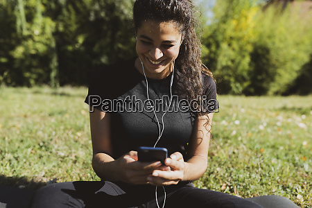 happy sporty young woman having a