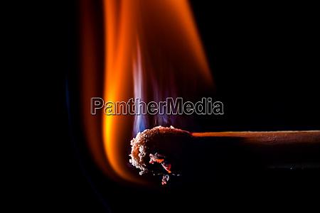 burning matchstick macro