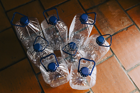 water bottles with handles ready for