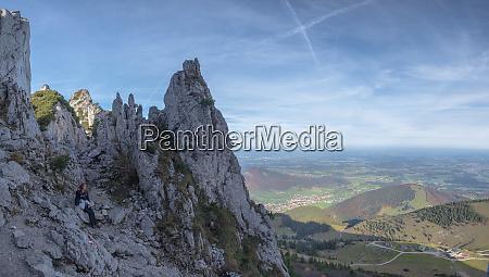 germany upper bavaria aschau female hiker