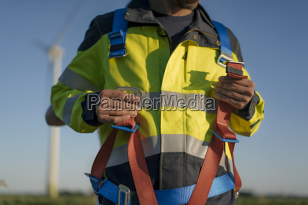 close up of technician at a
