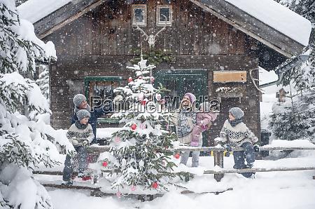 austria altenmarkt zauchensee family decorating christmas