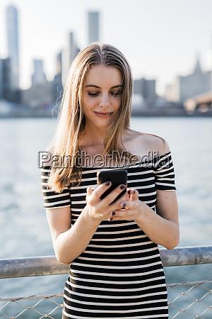 usa new york brooklyn young woman