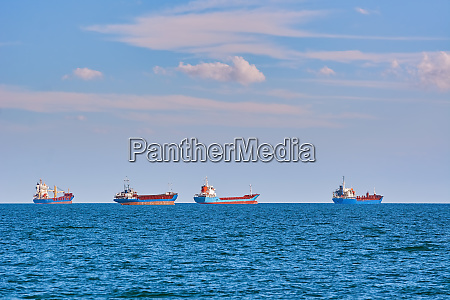 ships in the sea