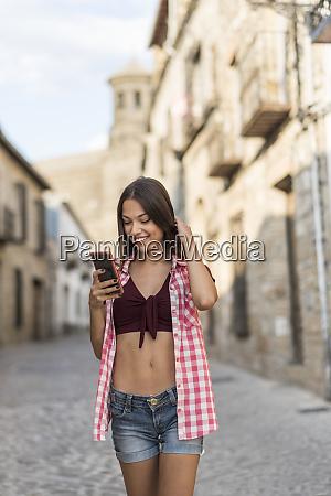 spain baeza smiling young woman looking