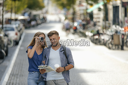 netherlands maastricht young couple exploring the