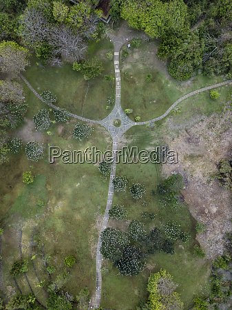 indonesia bali aerial view of park