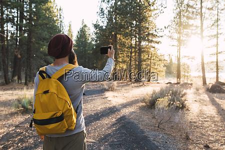usa north california young man taking