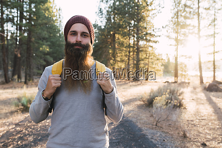 usa north california portrait of bearded