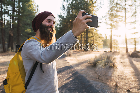 usa north california smiling bearded man