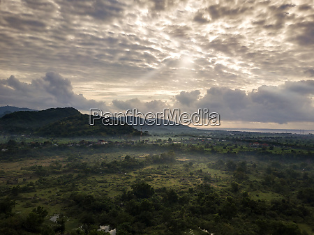 indonesia bali aerial view of rice