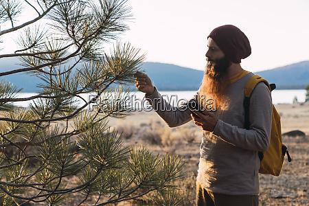 usa north california bearded man with