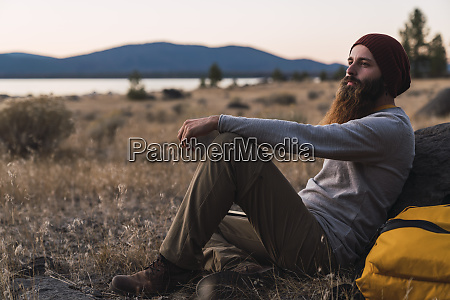 usa north california bearded young man