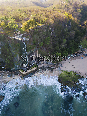 indonesia bali aerial view of lift