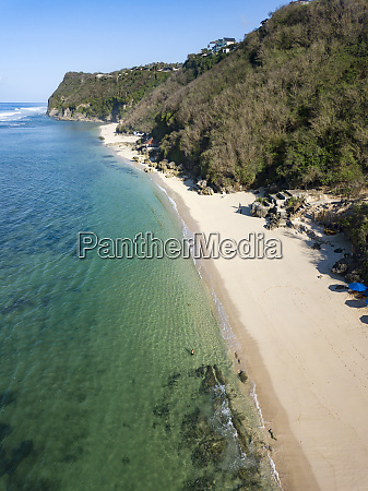indonesia bali aerial view of melasti