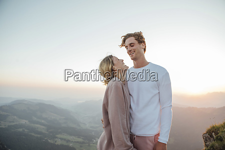 switzerland grosser mythen happy young couple